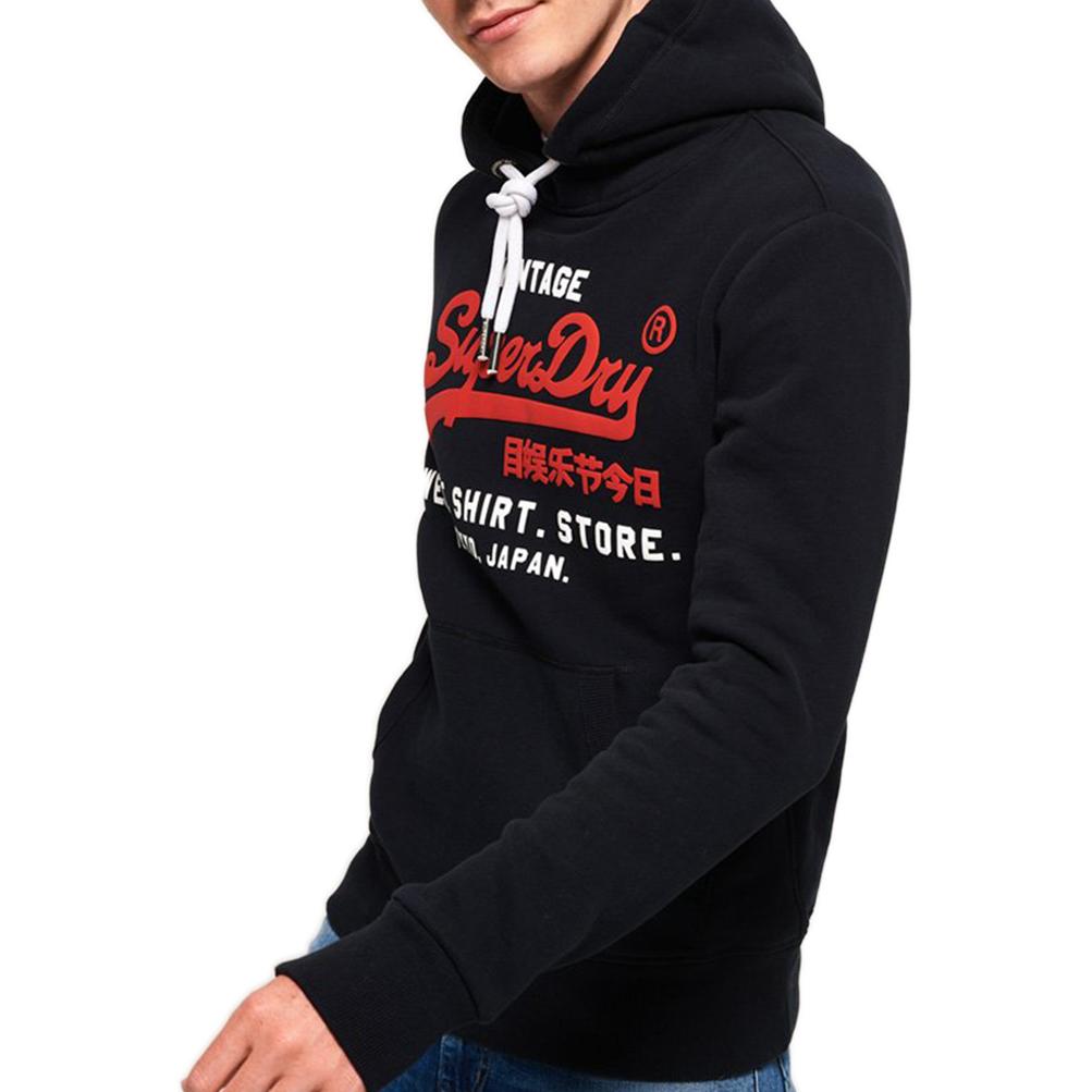 Superdry Superdry Felpa da Uomo con Cappuccio Sweat Shirt Shop Duo Grigia
