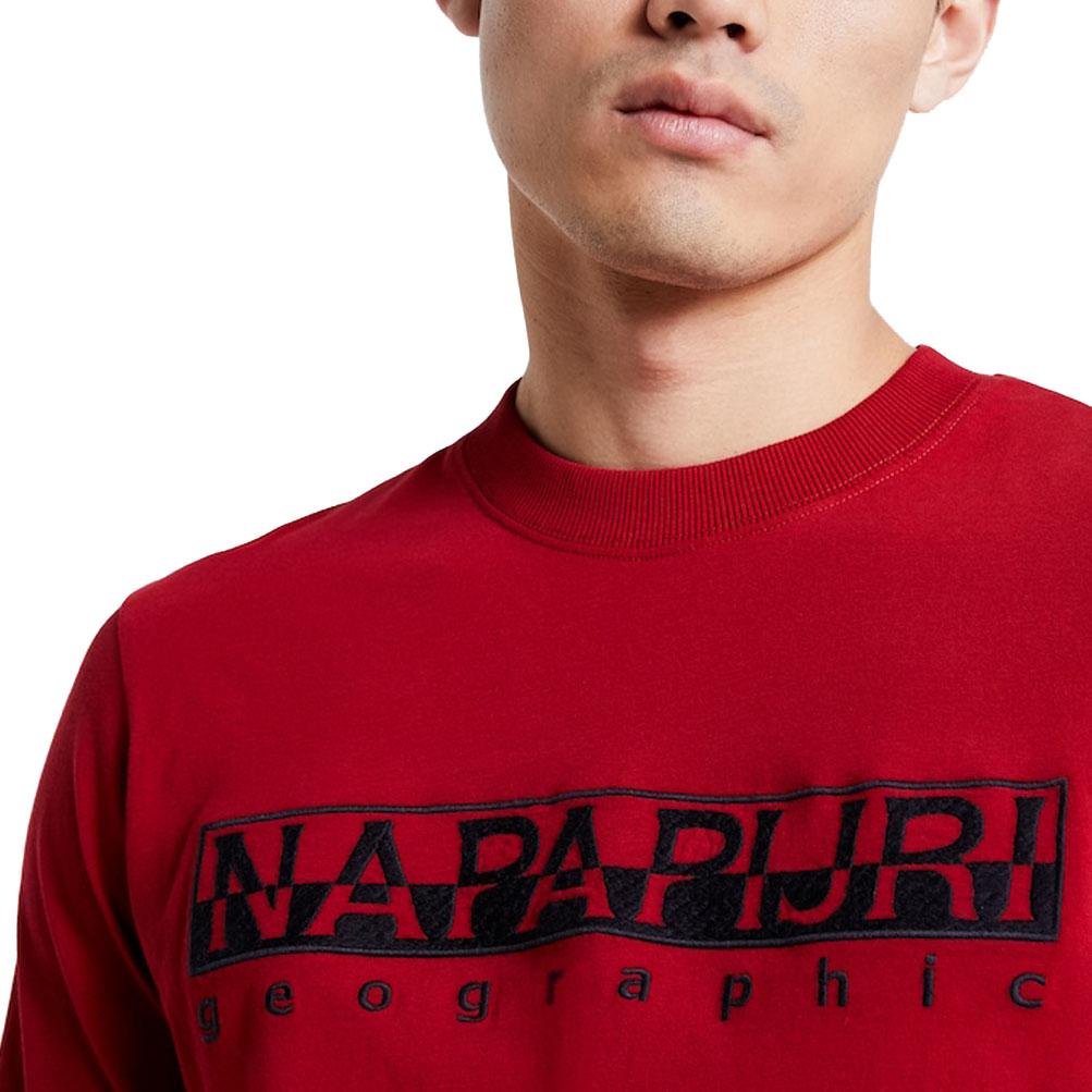 T-shirt uomo manica lunga maglia girocollo NAPAPIJRI articolo N0YIX0 SERBER LS